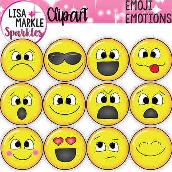 photo regarding Free Printable Emotion Faces titled Emoji Sensation Faces Clipart