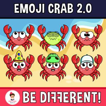 Emoji Emotion Faces Crab Clipart (2.0)