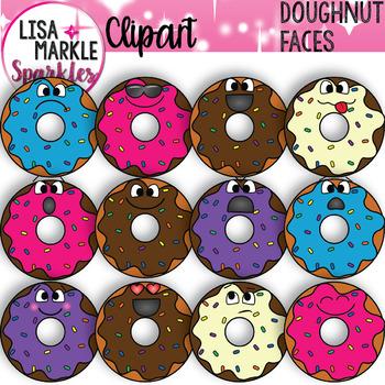 Emoji Emotion Faces Doughnut Clipart