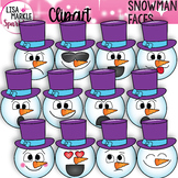 Snowman Clipart with Emoji Faces