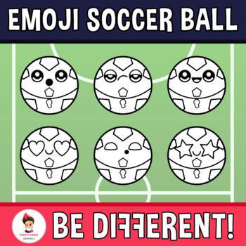 Emoji Emotion Faces Soccer Ball Clipart