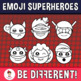 Emoji Emotion Faces Superheroes Clipart