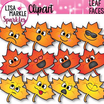 Emoji Emotion Fall Leaf Faces Clipart