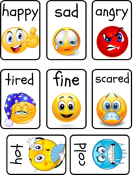 graphic regarding Emotion Flashcards Printable identify Sensation Flashcards Worksheets Education Components TpT