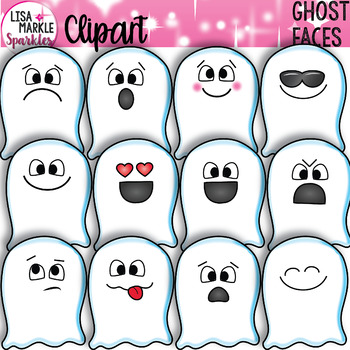 Emoji Emotion Ghost Faces Clipart Halloween