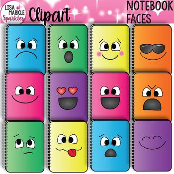 Emoji Emotion Notebook Clipart