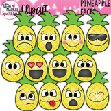 Pineapple Clipart with Emoji Faces