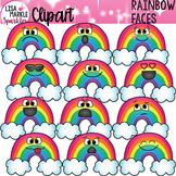 Emoji Emotion Rainbow Faces Clipart