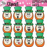 Emoji Emotion Saint Patrick's Day Leprechaun Faces Clipart