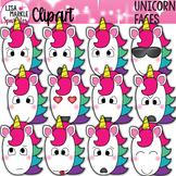 Unicorn Clipart with Emoji Faces