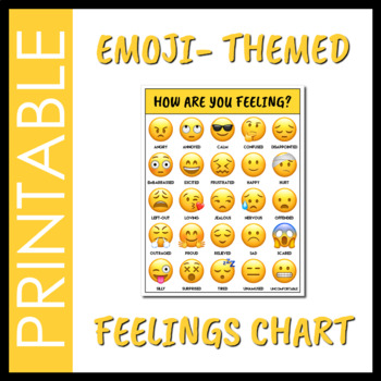 Emoji Feelings Chart By Social Workings  Teachers Pay Teachers