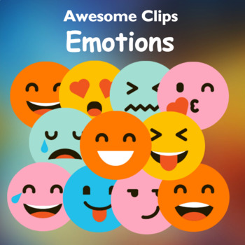 Emoji Emotions Clipart (Awesome Clips by Lollipop)