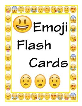 Emoji Emotions Flash Cards/Posters