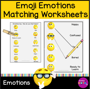 Emoji Emotions Matching worksheet