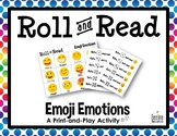Emoji Emotions Roll and Read / Reading Fluency Print-and-Play Activity *6 Sets*