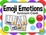 """Emoji Emotions Synonym Cards / 12 cards, 36 synonyms each 4"""" x 5"""""""