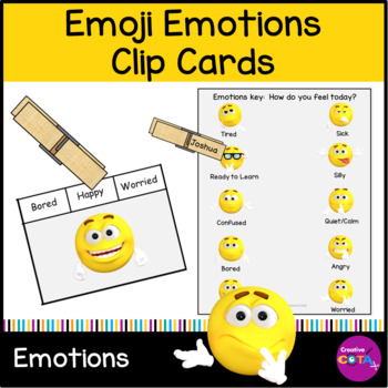 Emoji Emotions clip cards