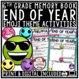 Digital Emoji Theme End of Year Memory Book 6th Grade Writing Activities