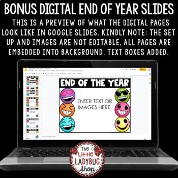 Editable Emoji End of Year Slideshow Template PowerPoint - Last Day of School