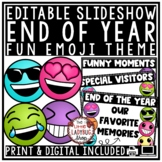 Emoji End of Year Memory Slideshow- Editable