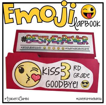End of the Year Activities - Emoji End of the Year Lapbook