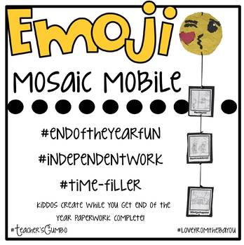 Emoji End of the Year Mosaic Mobile