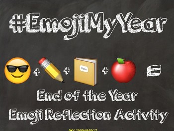 Emoji End of the Year Reflection Activity