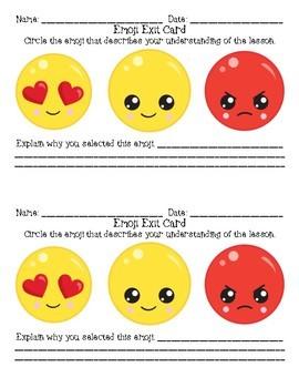 Emoji Entrance and Exit Cards