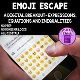 Emoji Escape! Digital Escape Breakout Expressions, Equations & Inequalities