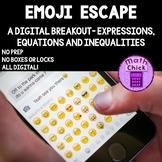 Emoji Escape! Digital Escape Breakout Expressions, Equations & Inequalities