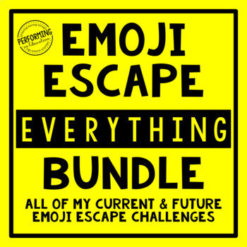 Emoji Escape Room EVERYTHING Bundle Reading and Math 3rd, 4th, and 5th