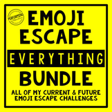 Emoji Escape Room EVERYTHING Bundle Math and ELA Review 3rd, 4th, and 5th