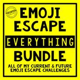 Emoji Escape Room EVERYTHING Bundle Math and ELA Review 3r