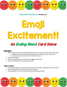 Emoji Excitement- An ENDING BLEND Card Game