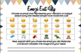 Emoji Exit Slip: Lesson Reaction