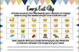 Emoji Exit Slip: Lesson Reaction