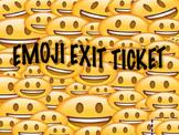 Emoji Exit Ticket