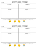 Emoji Exit Ticket FREEBIE