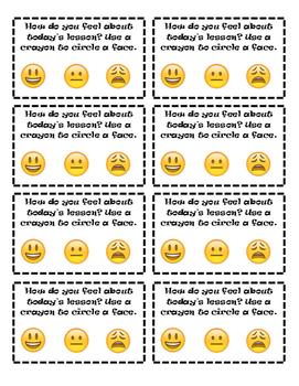Emoji Exit Ticket Freebie - Primary Grades