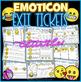 Emoji Exit Slip Tickets - Editable & Differentiated