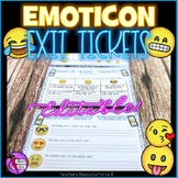Distance Learning Emoji Exit Slip Tickets - Editable & Differentiated
