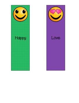 Emoji Feelings Bookmarks