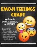 Emoji Feelings Chart (English, Spanish, French)