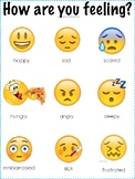 Emoji Feelings Poster and Think Sheet