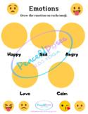 Emoji Feelings Worksheet - Distance Learning