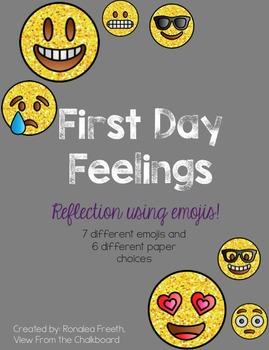 Emoji Feelings Writing Back to School First Day