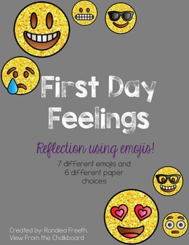 Emoji Feelings Writing Back to School First Day
