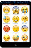 Emoji Feelings poster for Spanish Class