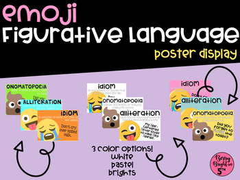 Emoji Figurative Language Poster Pack
