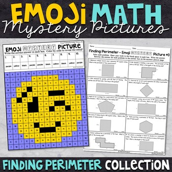 Emoji Finding Perimeter Math Mystery Pictures